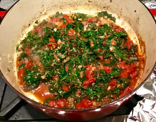 kale puttanesca tomatoes and kale